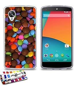Carcasa Flexible Ultra-Slim Google Nexus 5AU diseño exclusif [Gourmandise Chocolate] [transparente] de MUZZANO + lápiz capacitivo y gamuza Muzzano® offerts–la protección antiarañazos Ultime, elegante y durable para tu Google Nexus 5