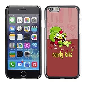 Qstar Arte & diseño plástico duro Fundas Cover Cubre Hard Case Cover para Apple (5.5 inches !!!) iPhone 6 Plus ( Candy Sweets Kills Quote Slogan Sugar Death)