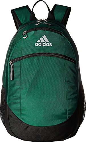 - adidas Unisex Striker II Team Backpack, Dark Green/Black/White, One Size