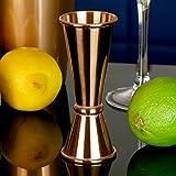 Vking Japanese Style Jigger Copper Plated Cocktail Jigger 3/4 Oz 1/2 Oz 3/2oz Measure