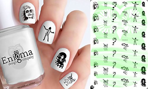 Beetlejuice Accessories (Clear Water-Slide Nail -