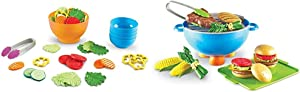 Learning Resources Garden Fresh Salad Set, Vegetables, Play Food, 38 Piece Set, Ages 18 mos+,Multicolor & New Sprouts Grill It!, 22 Pieces