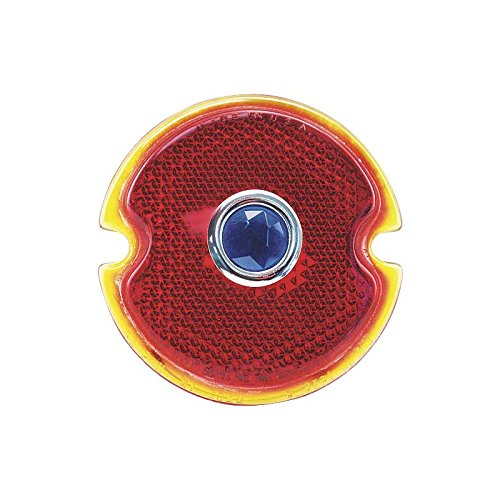 MACs Auto Parts 48-14673 Pickup Truck Tail Light Lens Red Glass Lens With Blue Dot Glass Round Pickup