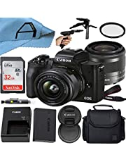 $814 » Canon EOS M50 Mark II Mirrorless Digital Camera 24.1MP Sensor with EF-M 15-45mm is STM Zoom Lens, SanDisk 32GB Memory Card, Bag, Tripod and A-Cell Accessory Bundle (Black)