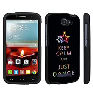 DuroCase ? Alcatel OneTouch Fierce 2 7040T (2014 Released) Hard Case Black - (Keep Calm Dance)