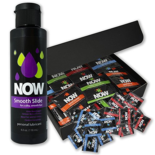 NOW 50 Piece Condom and 4 Ounce Lubricant Bundle