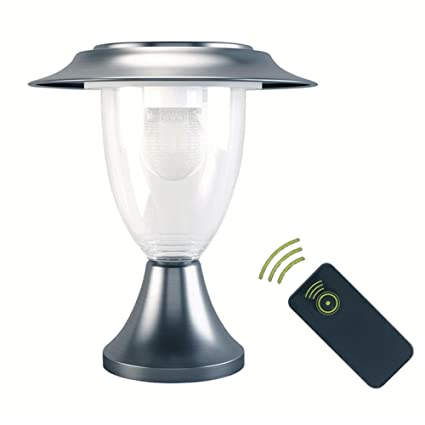 Bulary - Lámpara solar de jardín con sensor de movimiento PIR con mando a distancia,