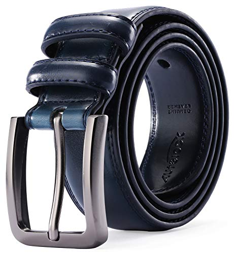 (Mens Belt - Autolock Genuine Leather Dress Belt - Classic Casual Belt for Men in Gift)