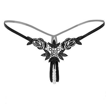 717f6b16a TAOtTAO Sexy Pendant Lady Pearl G String V-String Women Panties Low Waist  Underwear (