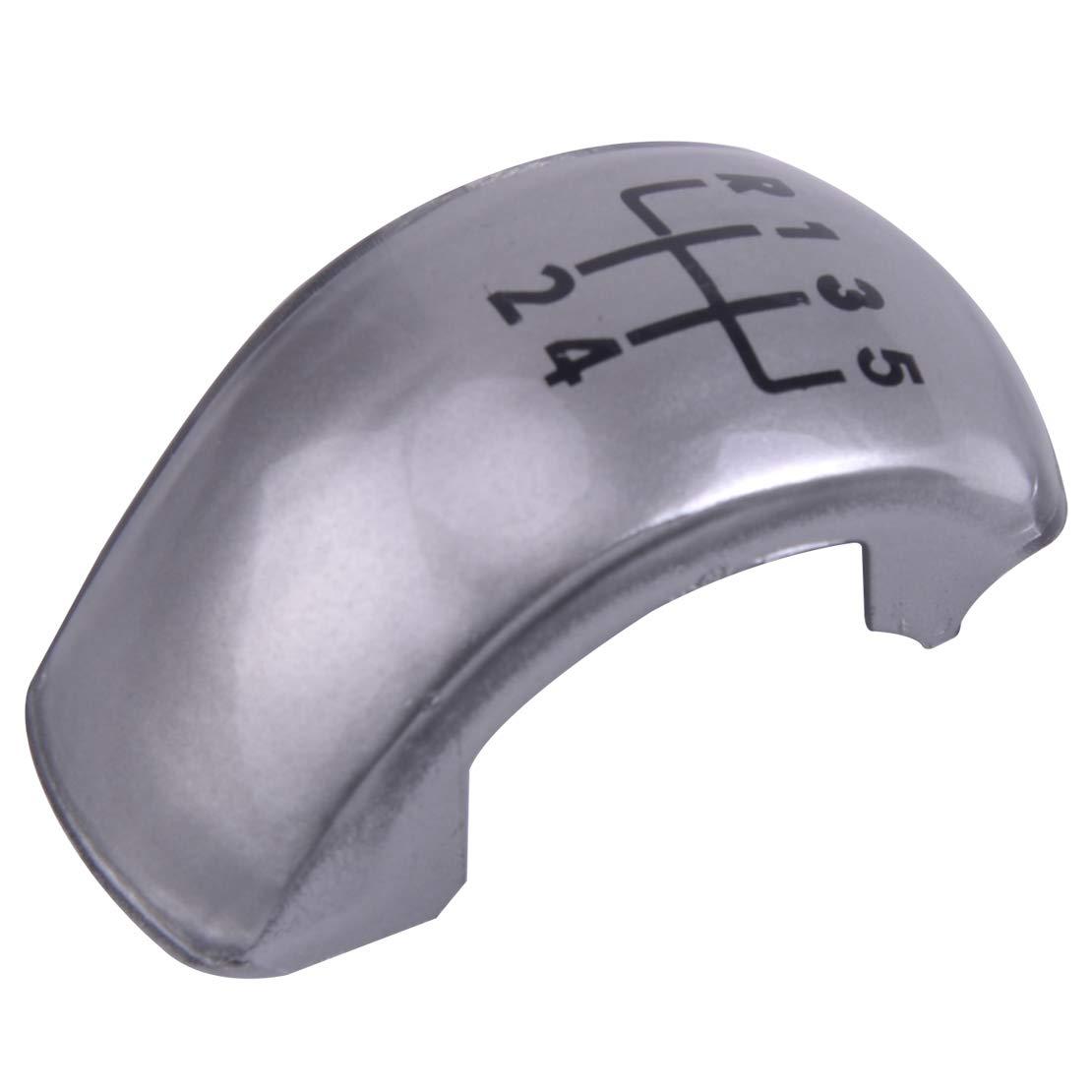 beler 5 Speed Manual Stick Gear Shift Knob Cap Cover Enblem Badge