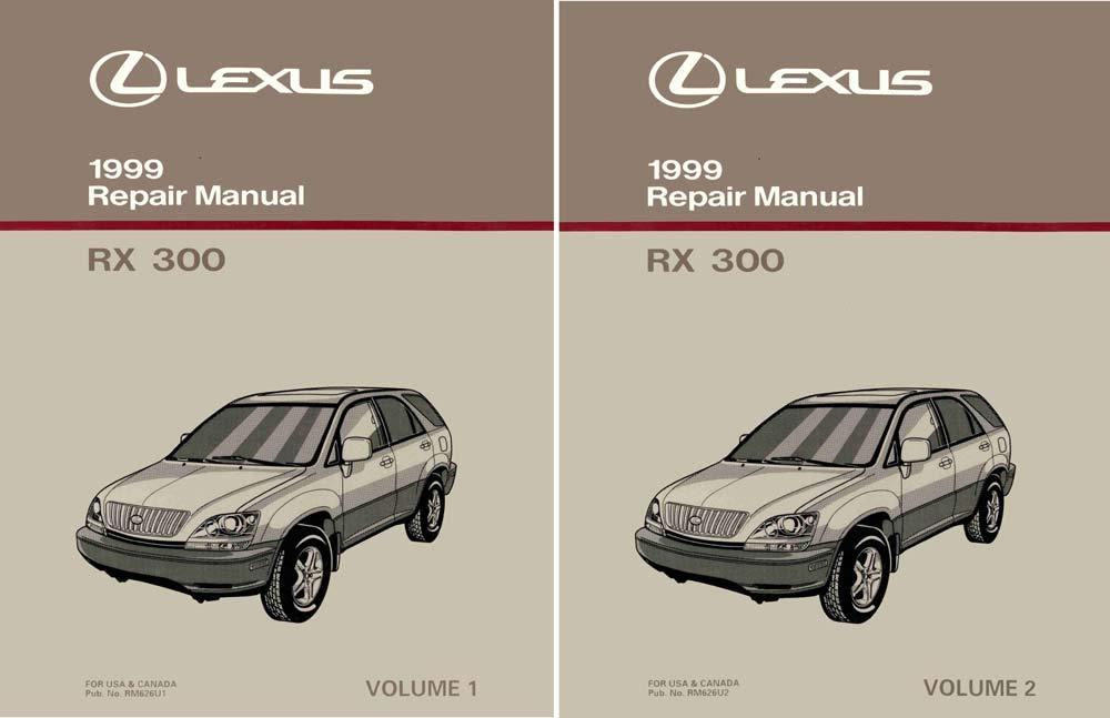 bishko automotive literature 1999 Lexus RX 300 Shop Service Repair Manual Complete Set