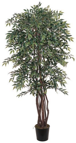 (Nearly Natural 5020 Smilax Silk Decorative Tree, 6-Feet, Green by Nearly Natural)