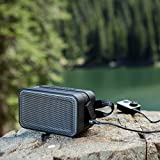 Skullcandy Barricade XL Bluetooth Wireless Portable Speaker, Waterproof and Buoyant, Impact Resistant, 10-Hour Battery Life and 33 Foot Wireless Range, Gray/Hot Lime