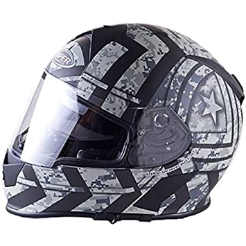 Amazon.es: Viper RS-V8 estéreo casco integral de moto - Combat), color gris mate