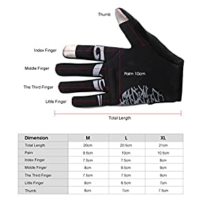 Enkeeo Cycling Gloves Full Finger Winter Bike Gloves Touchscreen Gloves for Smart Phone with Anti-slip Shock-absorbing 5MM Gel Pad, Microfiber Leather, Breathable Lycra, Velcro Design (Black&Grey)