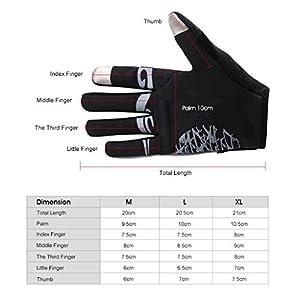 Enkeeo Cycling Gloves Full Finger Winter Bike Gloves Touchscreen Gloves for Smart Phone with Anti-slip Shock-absorbing 5MM Gel Pad, Microfiber Leather, Breathable Lycra, Velcro Design (Black&Grey)
