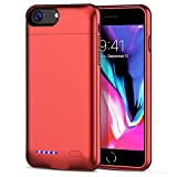 [Upgrade] iPhone 8/7/6S/6 Battery Case, SUNWELL 3000mAh High Capacity Ultra Slim External Charger Case for iPhone 8/7/6/6S with Extra 110% Battery Life (4.7'' Red)