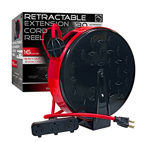 CopperPeak Retractable Extension Cord Reel product image