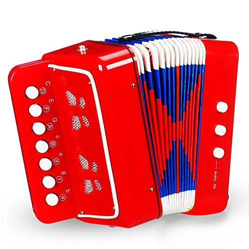 On Accordion | Super Jolly Kids Accordion with Extra Strong Strap | Premium Quality ABS and Kraft Paper Material