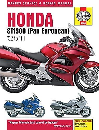 honda st1300 pan european 02 to 11 haynes service repair rh amazon com