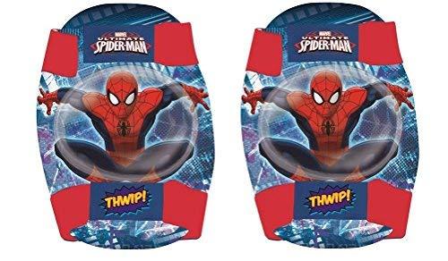 Disney Marvel Spiderman Childrens Elbow and Knee Pads Set Kids Skate (Spiderman Knee Pads)