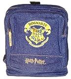 "Harry Potter Hogwarts School Creat 11"" Navy Denim Backpack"