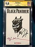 BILL SIENKIEWICZ ORIGINAL BLACK PANTHER Sketch Art CGC Signed Avengers CBCS Movie