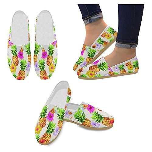 Mocassini Da Donna Di Interestprint Classico Casual In Tela Slip On Fashion Shoes Sneakers Flats Ananas Fruit Multi 2