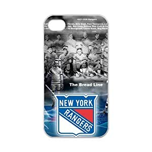 iPhone 4,4S Case Excellent New York Rangers Design iPhone 4,4S 100% TPU (Laser Technology)