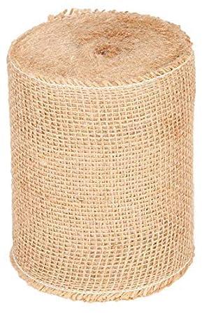 8CMX5M Roban Fashion Juteband Tischl/äufer Tischband Natur braun breit 8 cm Rolle 5m 10m 15m 20m 25m 30m 40m 50m 60m 70m 80m 90m 100m