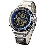 Shark Mix&Rock Leopard Sport Outdoors Army Blue Dial Luminous Stainless Steel Watch