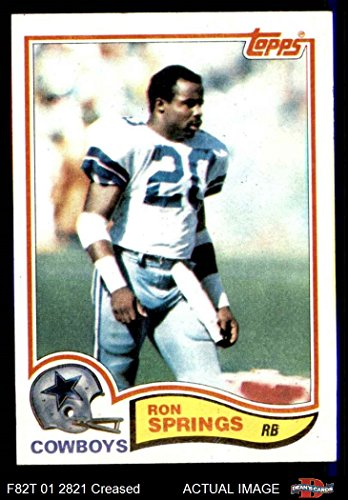 1982 Topps # 325 Ron Springs Dallas Cowboys (Football Card) Dean's Cards 3 - VG Cowboys