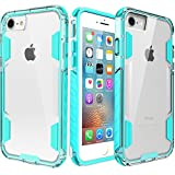 iPhone 8 Case,iPhone 7 Cases,Zisure[Rock Sugar] Heavy Duty Crystal Hard Clear Case Durable Shatterproof Sport Phone Cover for iPhone 8/iPhone 7 4.7 inch (Mint Blue)