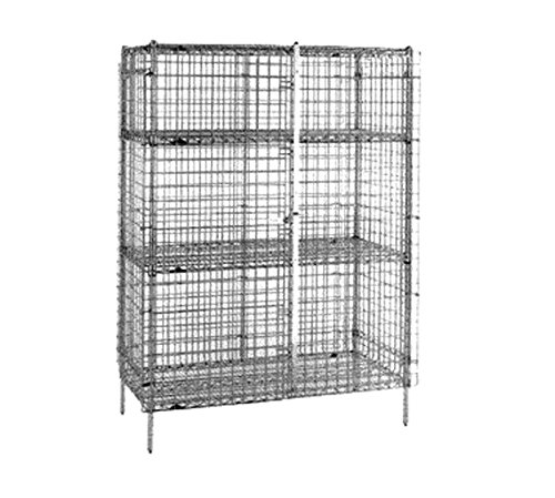 Metro SEC35CQ qwikSLOT Chrome Plated Heavy Gauge Wire Stationary Security Unit, 50-1/2