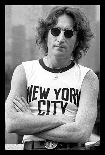 Lennon Revolution (Professionally Framed John Lennon (New York City) Music Poster Print - 24x36 with RichAndFramous Black Wood Frame)