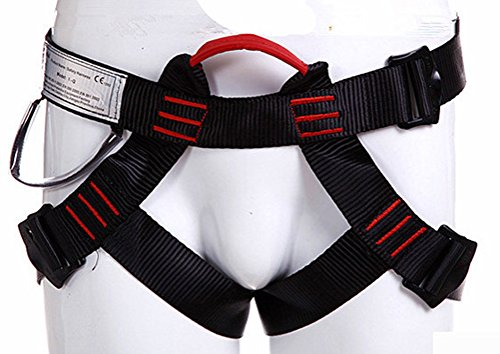Climbing Harness, Newdoar Women Man Child Half Body Safe Seat Belts For Mountaineering Rock Climbing,Mountaineering Outward Band Fire Rescue, Expanding Training,Rappelling Gear