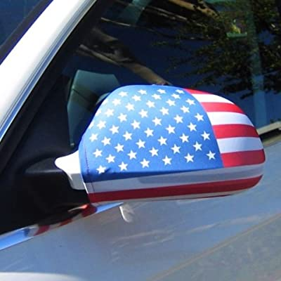 American Flag Side View Mirror Covers (Set of 2) Fits Most Cars & Small SUV's