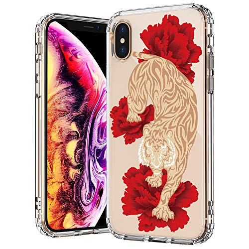 MOSNOVO Animal iPhone Xs MAX Case, Fashion Tiger Pattern Printed Clear Design Transparent Plastic Back Case with TPU Bumper Protective Case Cover for iPhone Xs - Tigers Fashion Pack