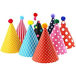 Vesil Kids Birthday Party Hats, Assorted