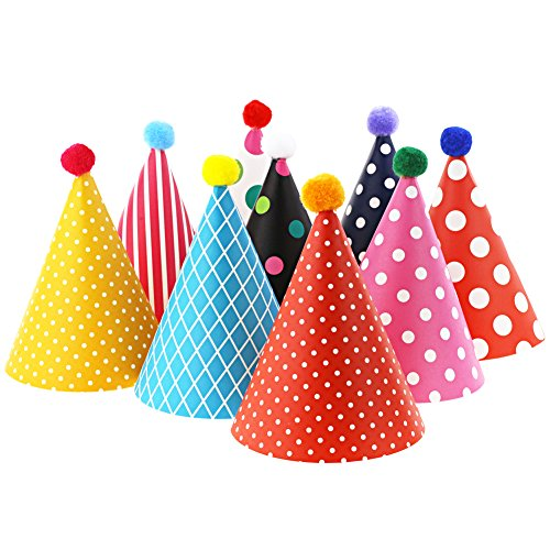 Vesil Kids Birthday Party Hats, Assorted -