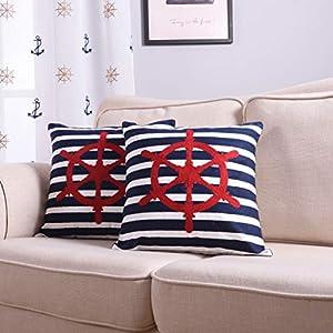 51ol1wu2HPL._SS300_ 100+ Nautical Pillows & Nautical Pillow Covers