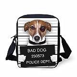 Showudesgins Cute White Bad Dog Travel Messenger Bag Mini Phone Wallet Bag Review