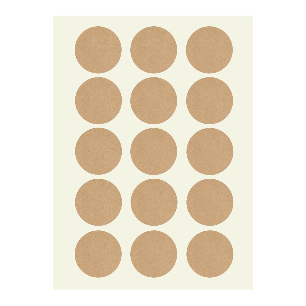 eKunSTreet ® 150PCS Rustic 35mm Plain Round Brown Kraft Stickers Labels Seals Blank for Wedding,Envelope,Christmas,Gift Bags,Card-making,Scrapbooking,Self Cooking,Home Baking,Kitchen Jars