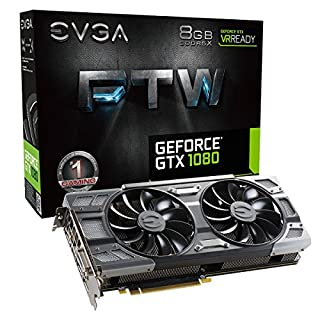 EVGA GeForce GTX 1080 FTW GAMING ACX 3.0, 8GB GDDR5X, RGB LED, 10CM FAN, 10 Power Phases, Double BIOS, DX12 OSD Support (PXOC) Graphics Card 08G-P4-6286-KR (B01GAI64GO) | Amazon price tracker / tracking, Amazon price history charts, Amazon price watches, Amazon price drop alerts