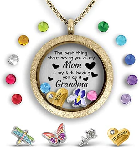 Touch Dazzle Daughter Necklace Floating