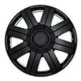 TuningPros WSC-613B15 Hubcaps Wheel Skin Cover 15-Inches Matte Black Set of 4