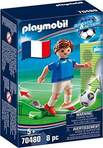 PLAYMOBIL-Jugador de fútbol, Francia 1 (70480), color france ...