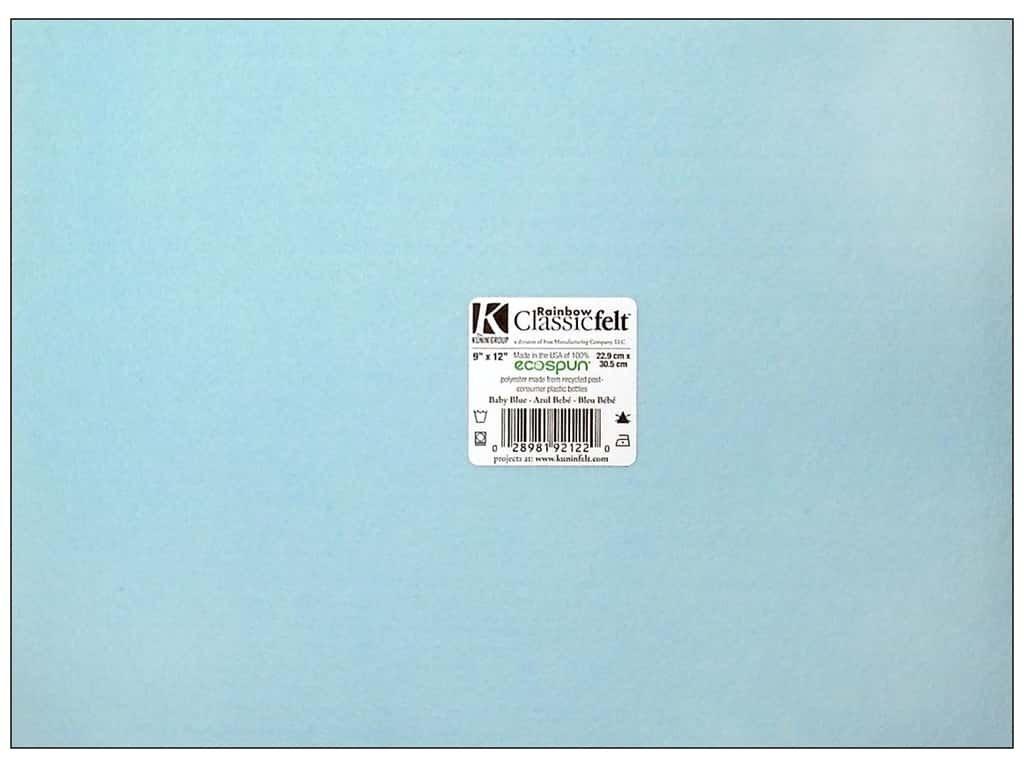 Bulk Buy: Kunin Foss Rainbow Classic Felt 9'X12' Baby Blue 912-660 (24-Pack)