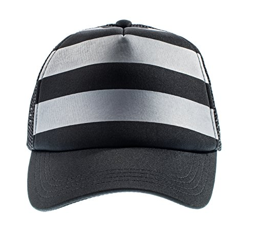 (Born to Love Baby Boy Infant Trucker Hat Snap Back Sun Mesh Baseball Cap (L), Stripe)