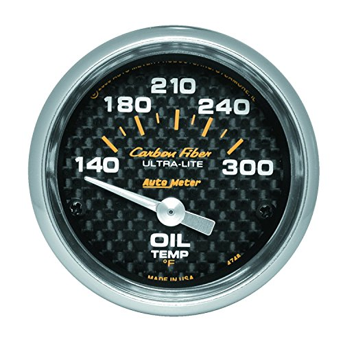 Auto Meter 4748 Carbon Fiber Electric Oil Temperature (Auto Meter Carbon Fiber Oil)
